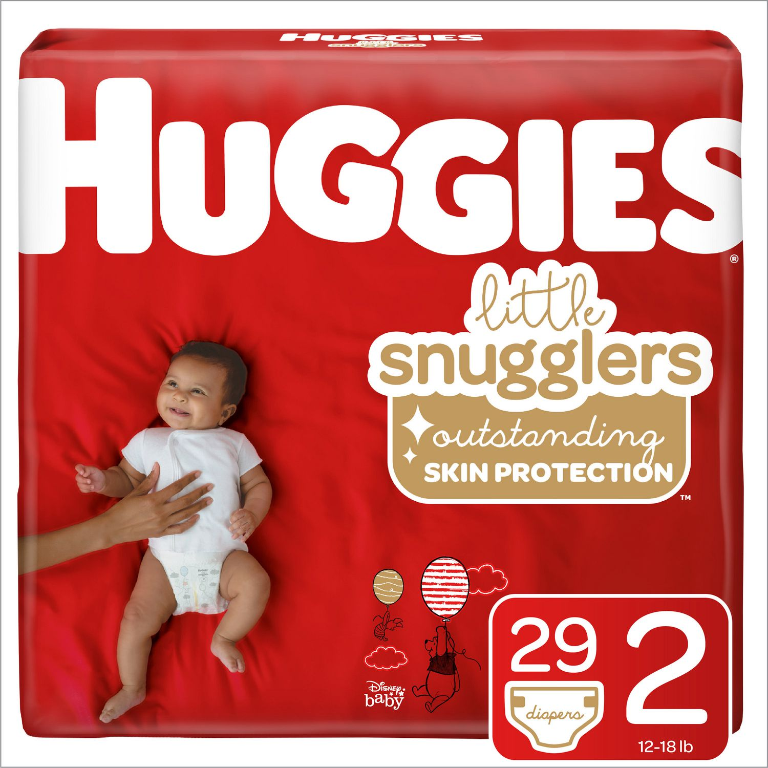 Huggies Little Snugglers Jumbo Pk 36 ct Size 2 12-18 Lbs Disposable Baby Diapers