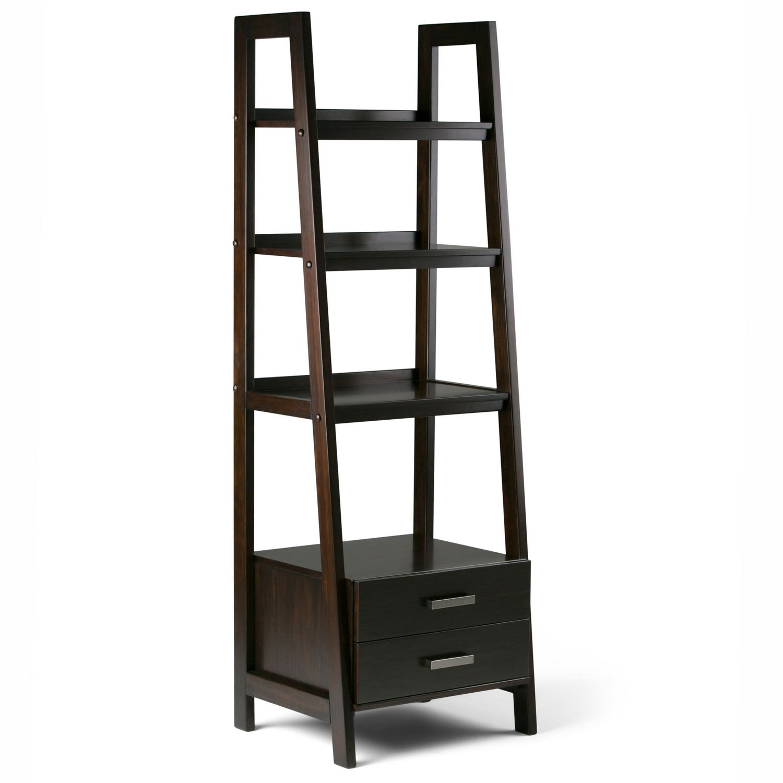 Wyndenhall Hawkins Ladder Shelf With Storage Walmart Canada