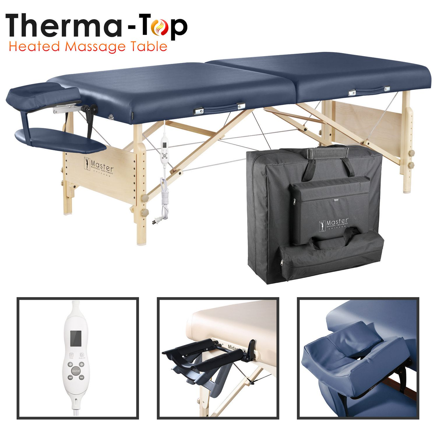 Master Massage 30 Inch Coronado Portable Massage Table Package With  Therma Top, Royal Blue | Walmart Canada