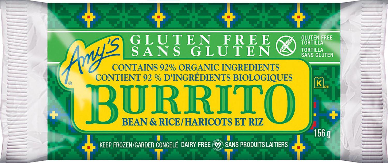 Amy S Kitchen Gluten Free Non Dairy Bean Rice Burrito Walmart Canada