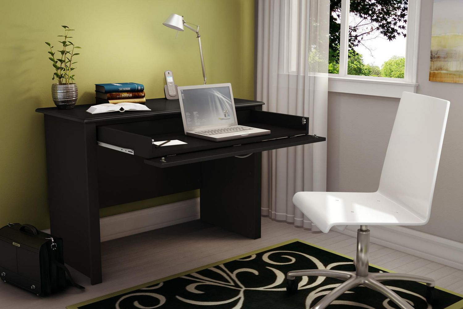 black bookshelves office best dakota with amazon furniture dp ameriwood shaped products choice l corner home com desk computer