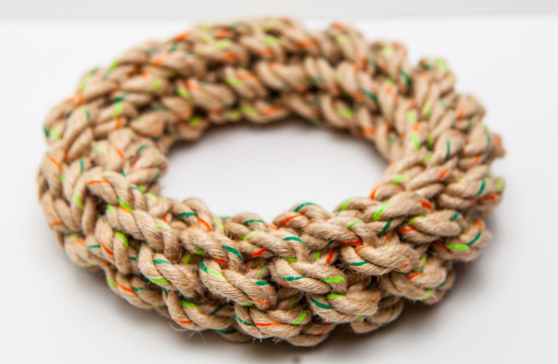 Define Planet™ - Hemp Rope Toy - Braided Ring Medium