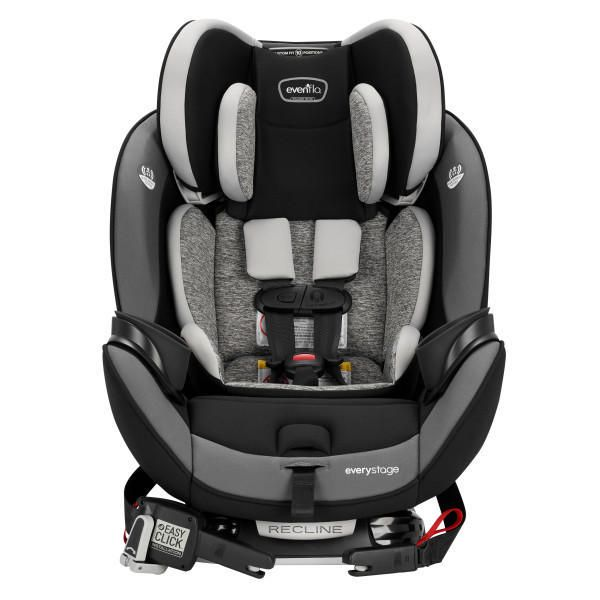 Black and grey Evenflo EveryStage DLX All-in-One convertible car seat - best convertible car seat