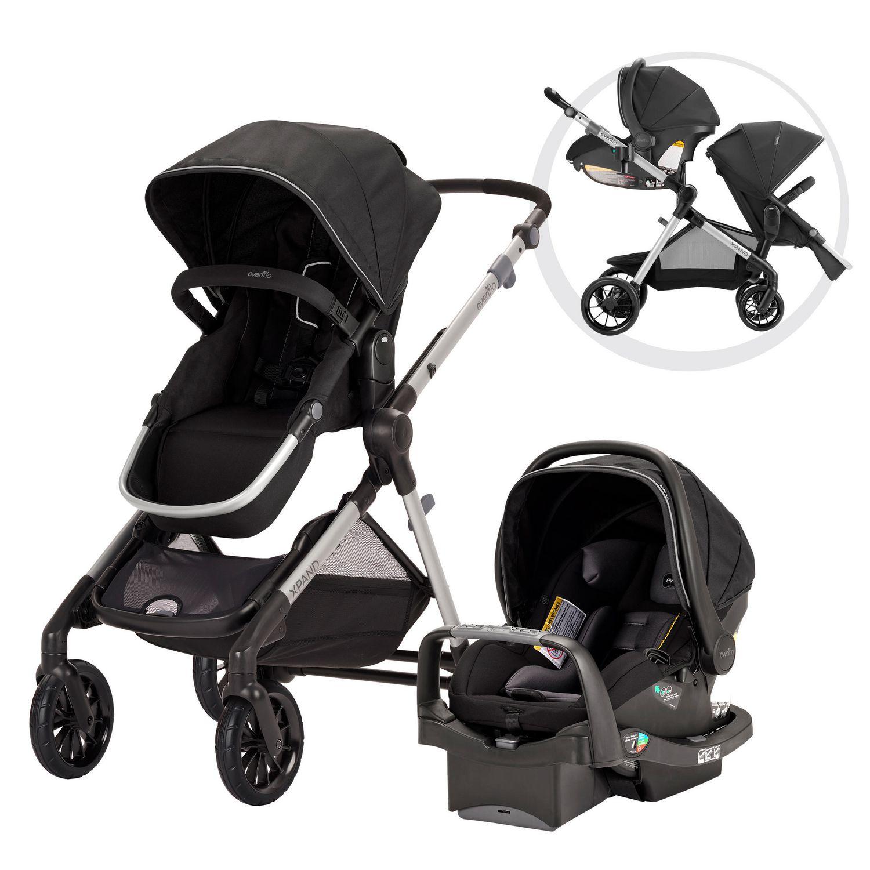 Meilleure poussette double – Pivot Xpand d'Evenflo avec siège d'auto pour bébé SafeMax