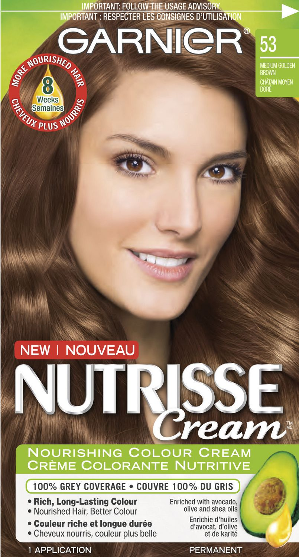 Garnier Nutrisse Cream Hair Color In 62 Light Golden Brown Grey