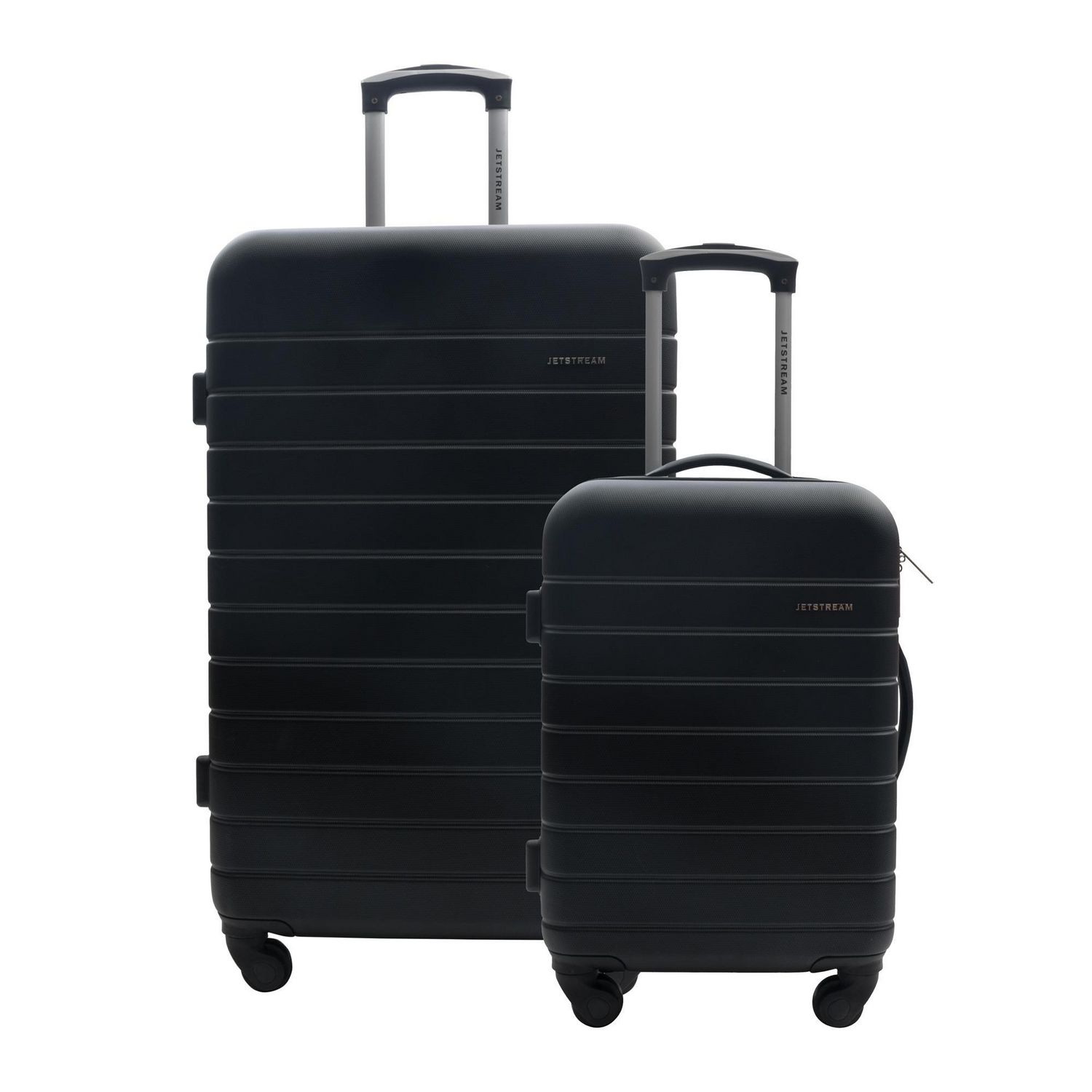 Silver Finish /& E-Book Large Hardsided Suitcase and Small Hardside Suitcase With Spinner Wheels 2-Pack Set