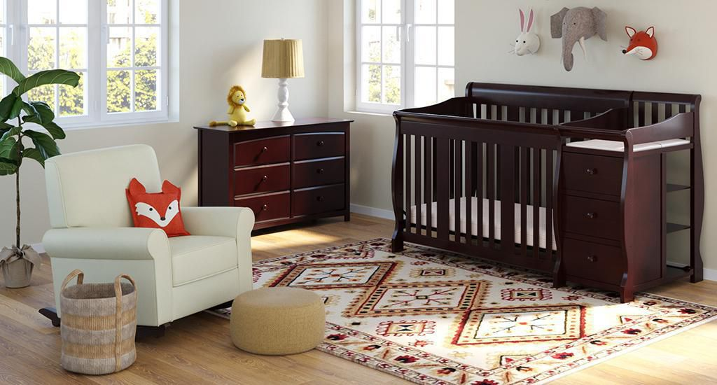 Storkcraft Portofino 4 In 1 Convertible Crib And Changer Walmart