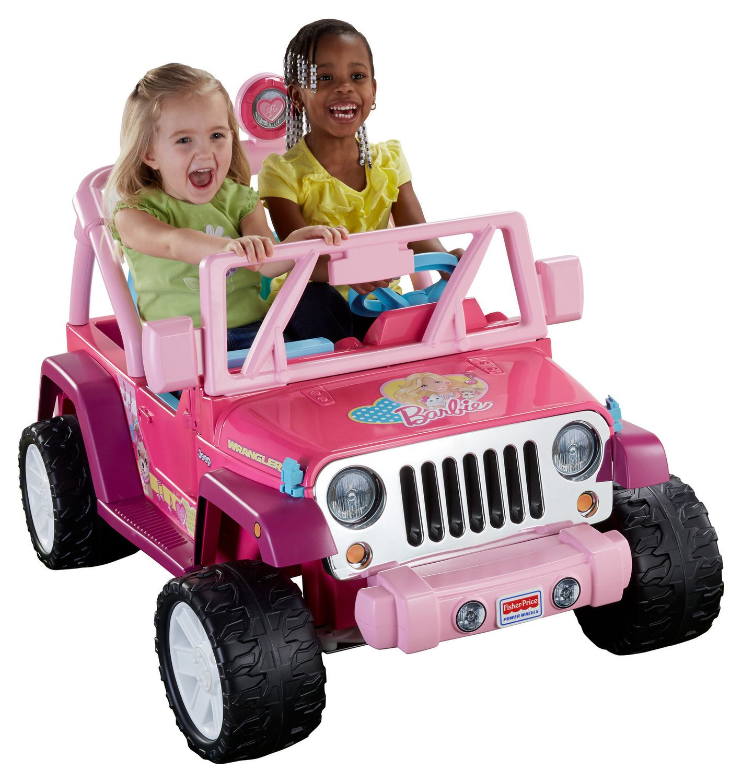 Fisher Price Power Wheels Barbie Jammin Jeep Wrangler