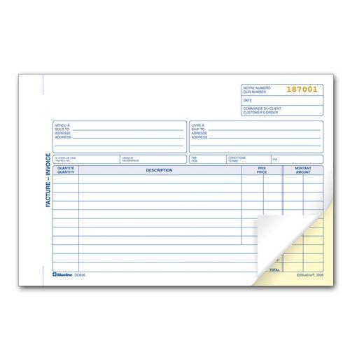 invoice book walmart canada