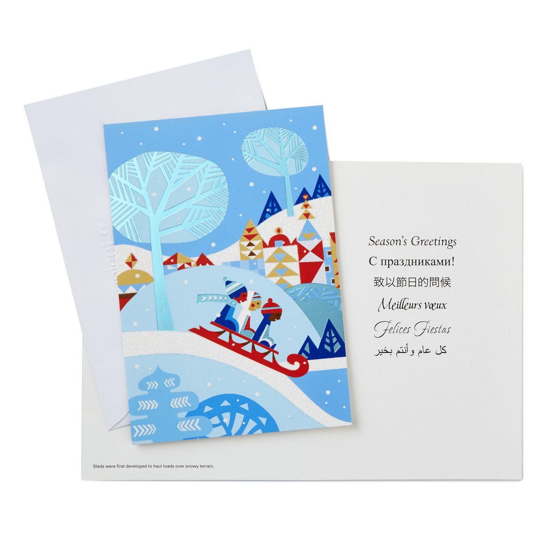 Hallmark UNICEF Children Sledding French-Language Boxed Christmas ...
