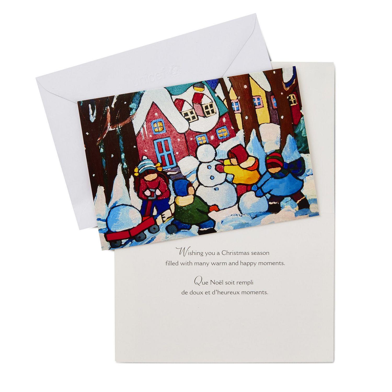 carte darbre de No/ël P/ère No/ël bonhomme de neige pour No/ël 12 autocollants inclus Paquet de 12 cartes de No/ël cartes-cadeaux de voeux joyeux No/ël en papier kraft avec enveloppes