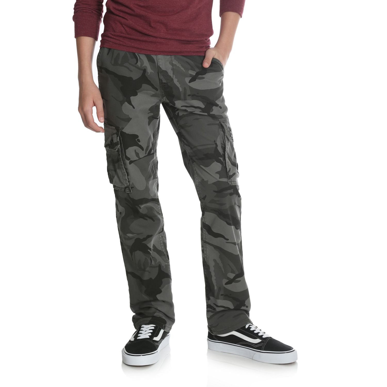 edf89797 Wrangler Boys' Slim Straight Stretch Cargo Pant - image 1 of 6 zoomed image