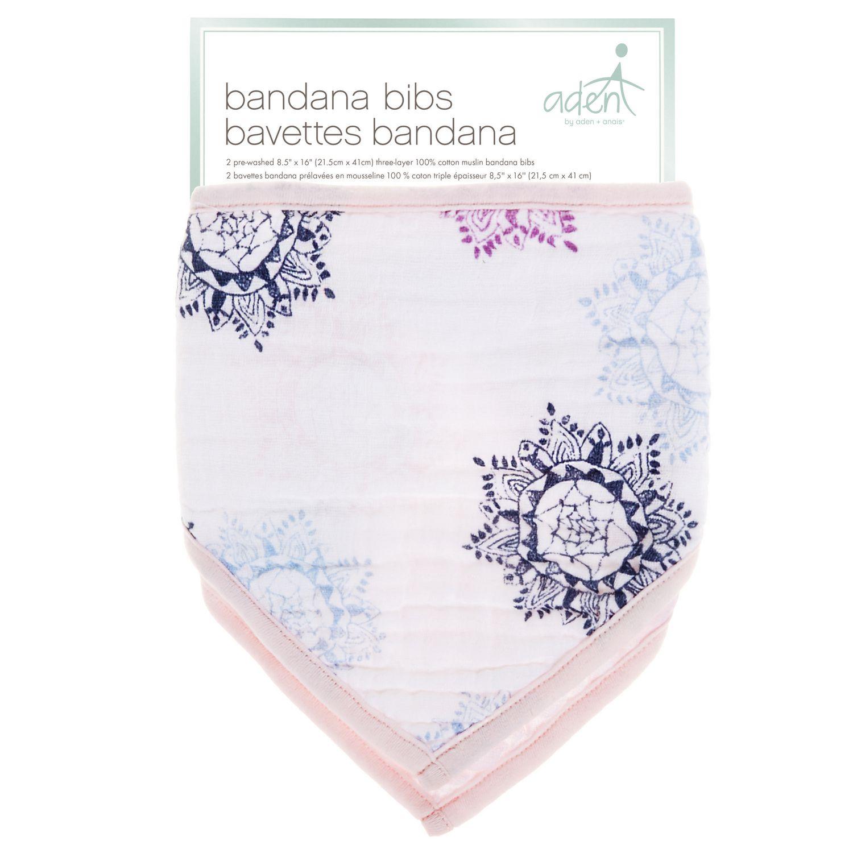 Blue Bumkins 2 Count Absorbent Cotton Bandana Bib
