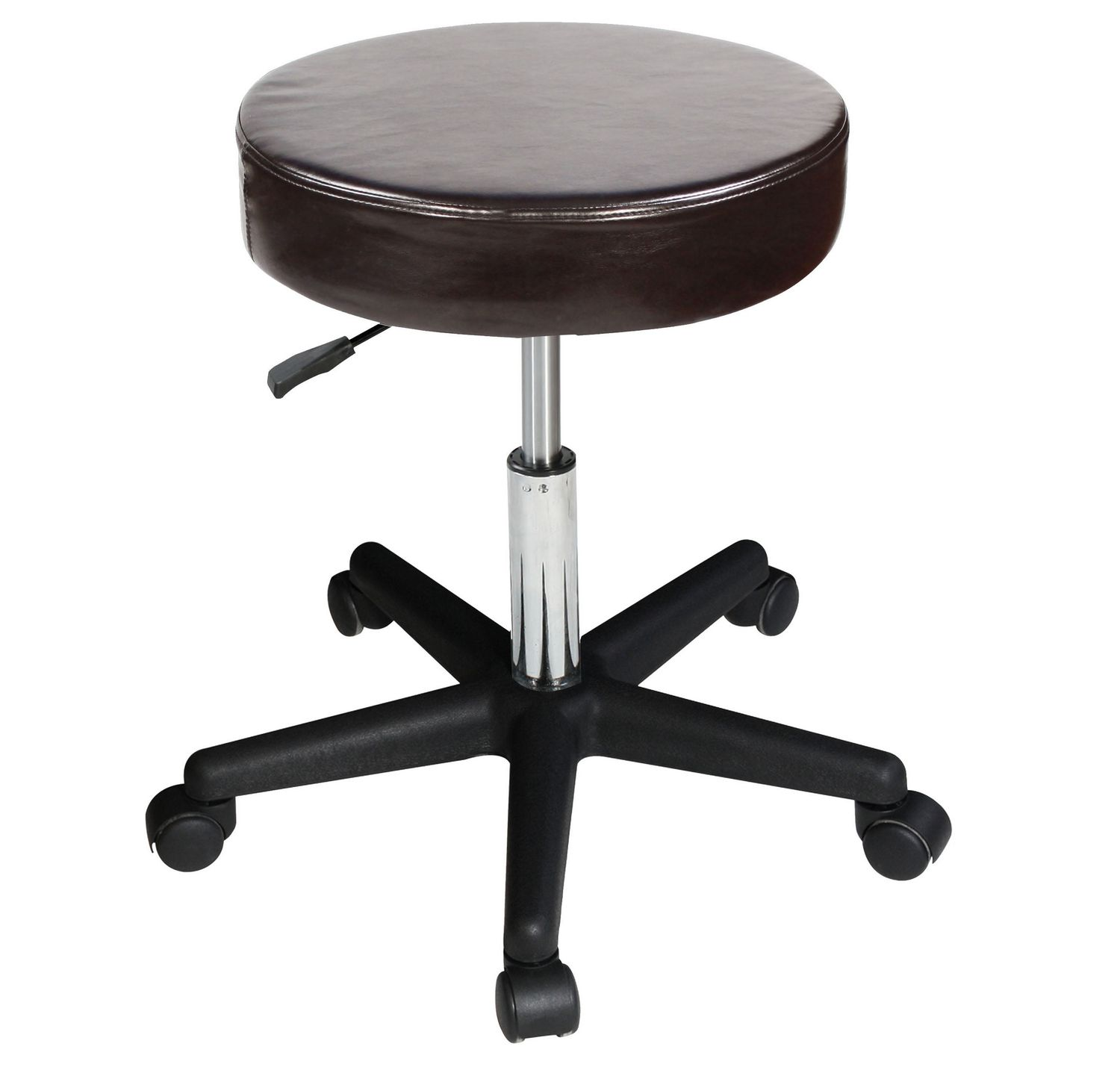 Stool With Wheels Padded Stool With Backrest Base Gas