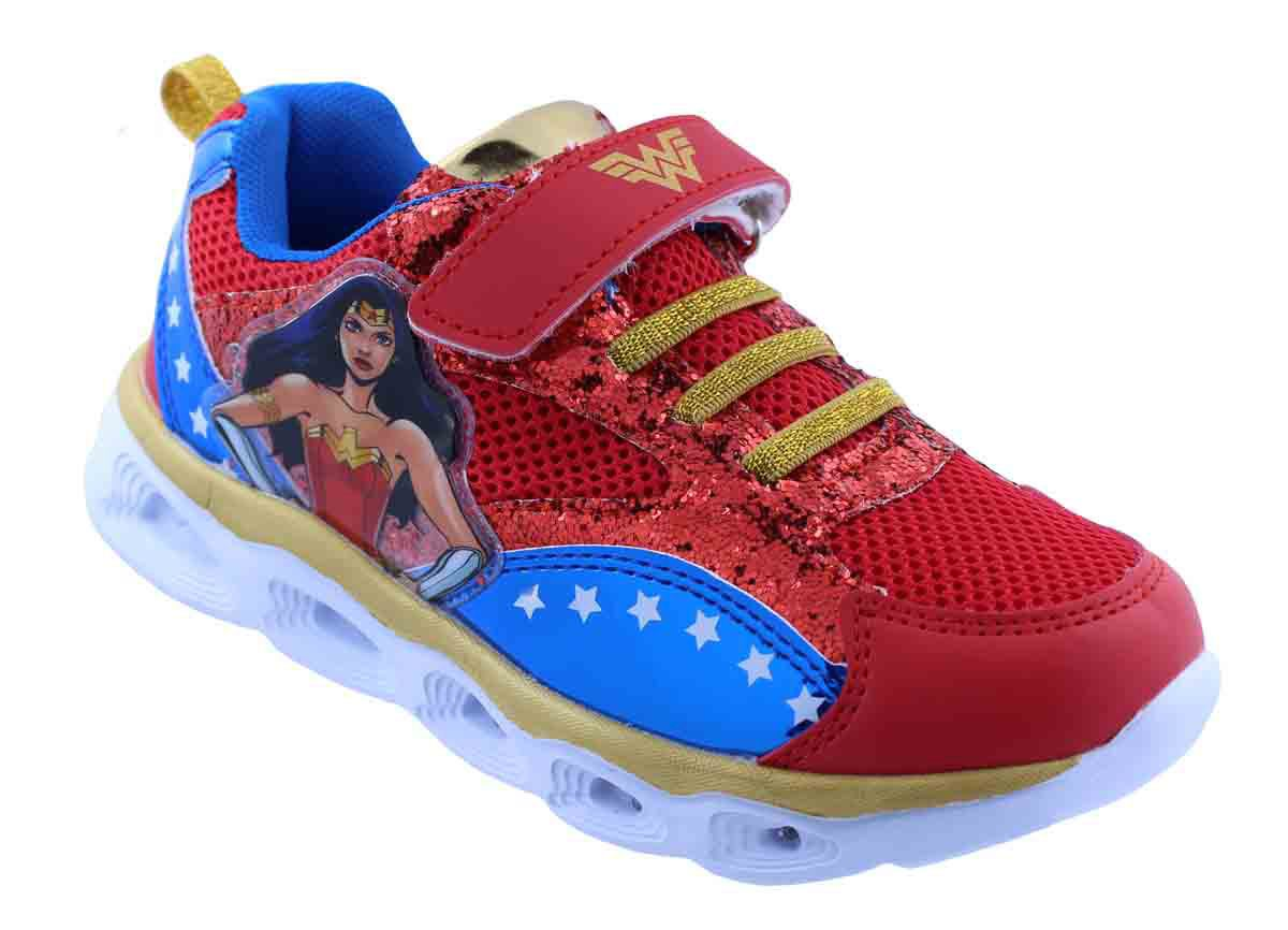 Lighted Wonder Woman Athletic Shoes for