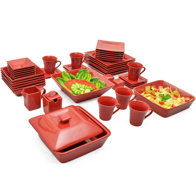 10 Strawberry Street Nova Green Square Dinnerware Set | Walmart Canada