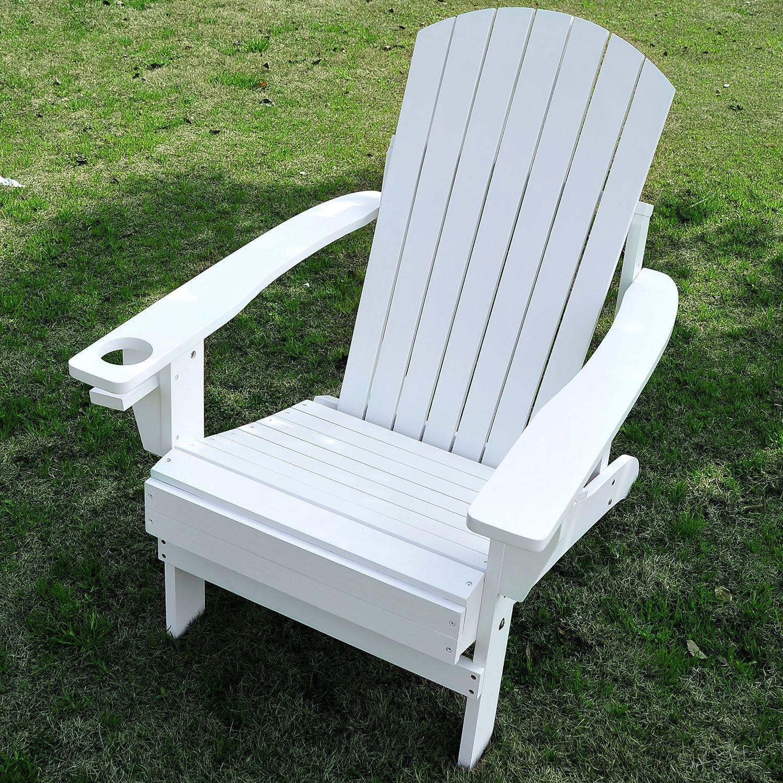 Coussin Pour Fauteuil Adirondack outsunny chaise adirondack en bois