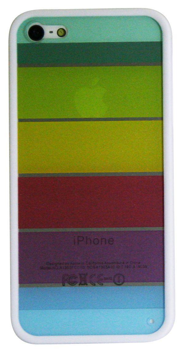 Étui pour iPhone SE/5/5s d'Exian - Motif d'arc-en-ciel transparent coloré