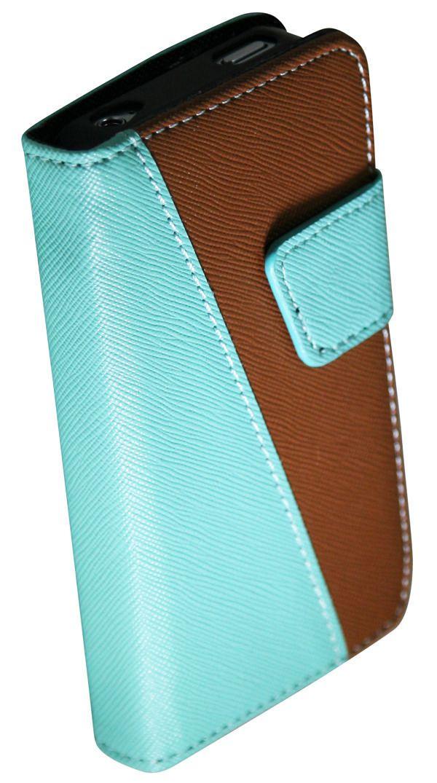 Étui pour iPhone 4 / 4s d'Exian - portefeuille en cuir avec fentes de cartes