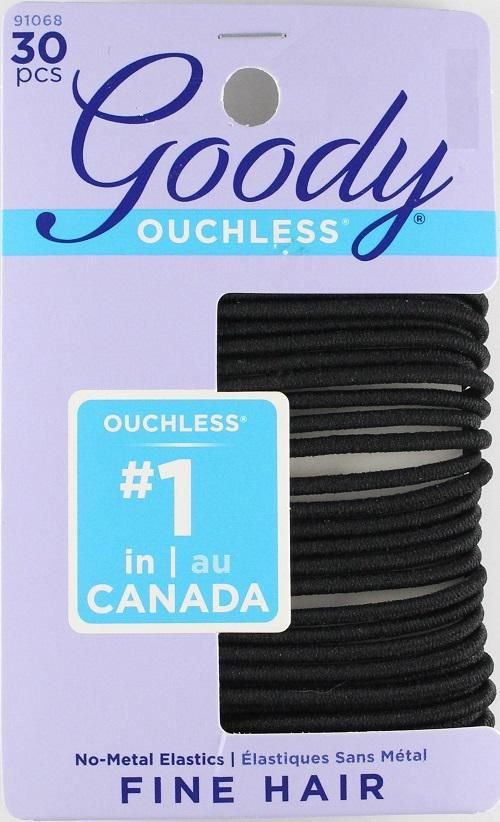 Goody Ouchless® No Metal Elastics - Black - image 1 of 1 zoomed image b86f189e2d0
