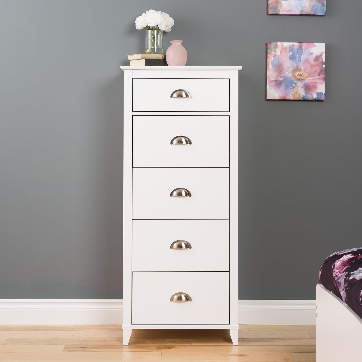 Prepac Yaletown White 5 Drawer Tall Chest Walmart Canada