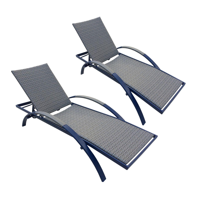 Longue Chaise De Pour Bain D'henryka Multi Positions Soleil Bleue R35j4LA