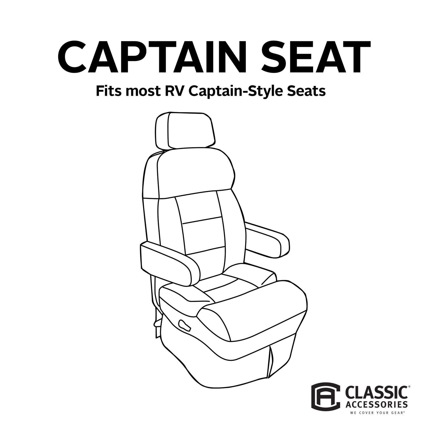 Classic Accessories RV Captain Seat Cover
