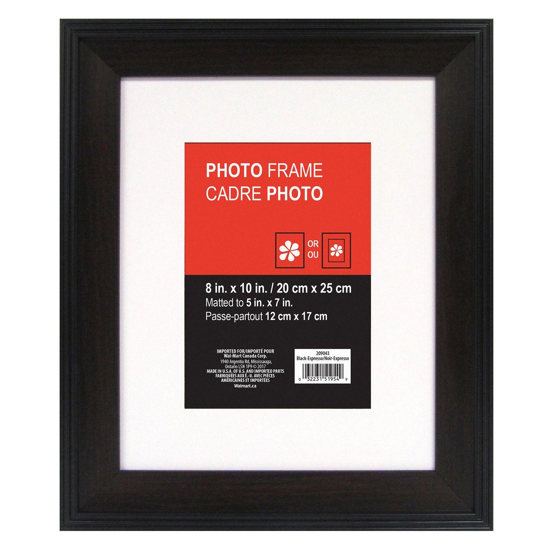 Hayes Matted Black Espresso Photo Frame | Walmart Canada