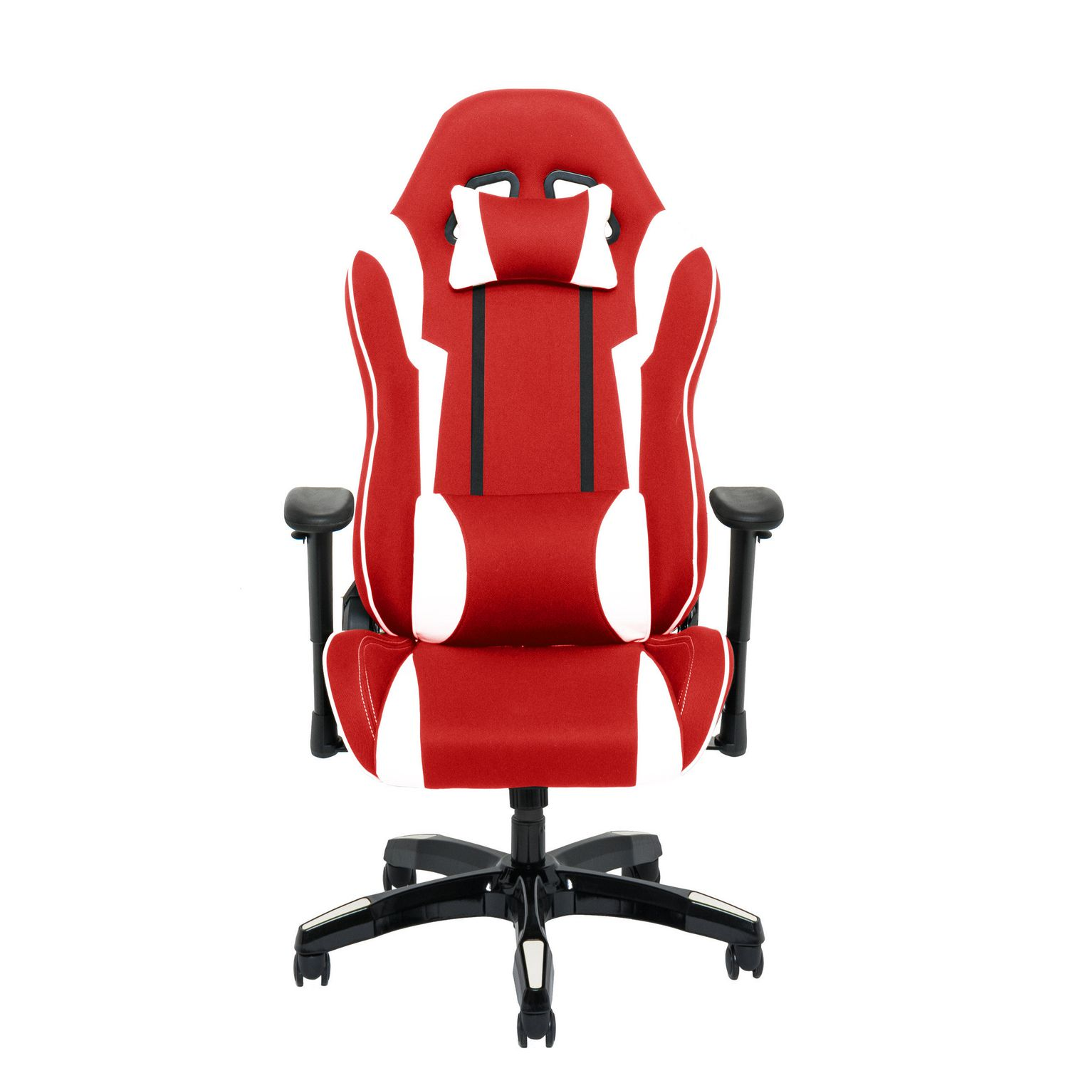 Corliving Red And White High Back Ergonomic Gaming Chair Walmart