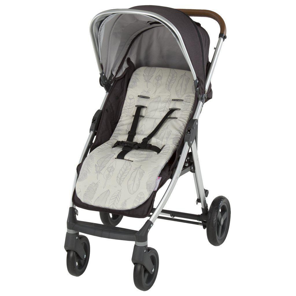 Brand new CuddleCo comficush memory foam stroller liner in black /& white stars