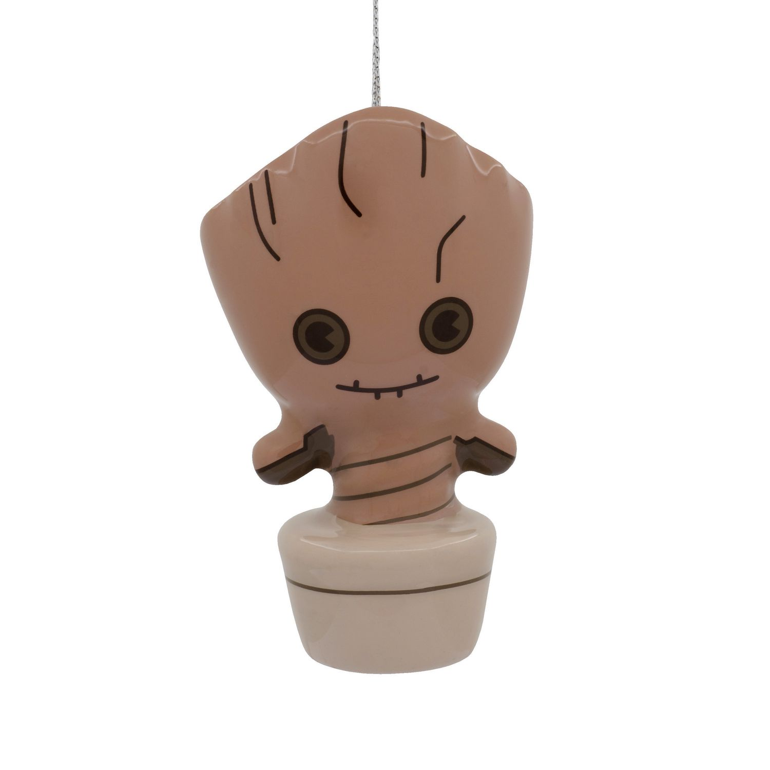 Marvel Christmas Tree.Hallmark Marvel Guardians Of The Galaxy Potted Groot Decoupage Christmas Tree Ornament
