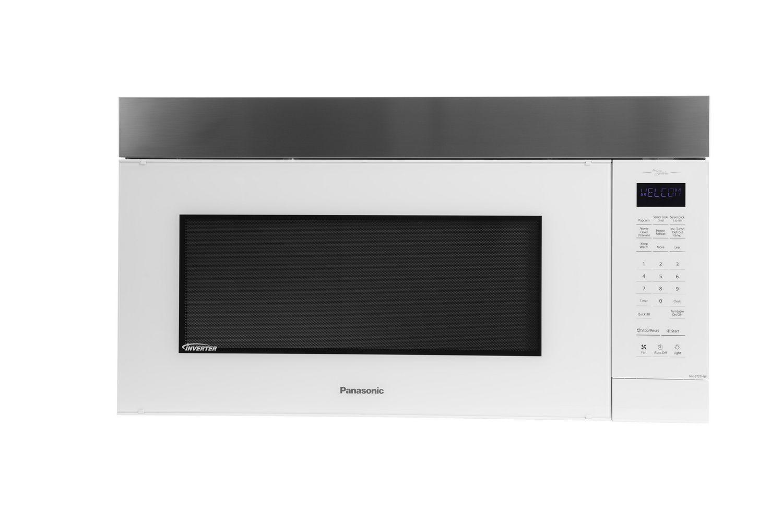 Panasonic NNST27HW Genius Prestige plus Over-The-Range Microwave - 2 0 Cu   Ft  - White/Stainless Steel