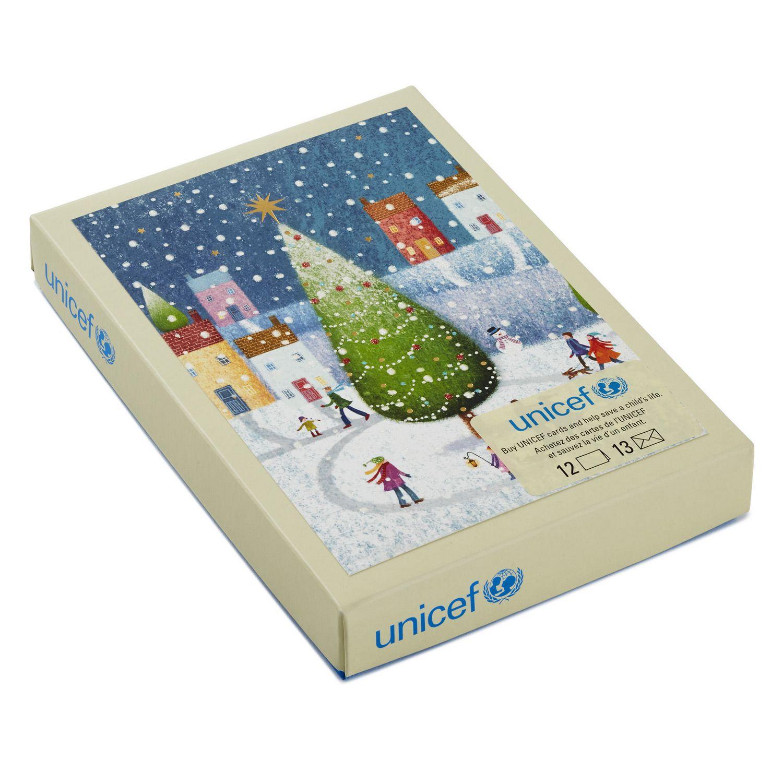 Cartes de Noël en boîte UNICEF de Hallmark avec texte en français