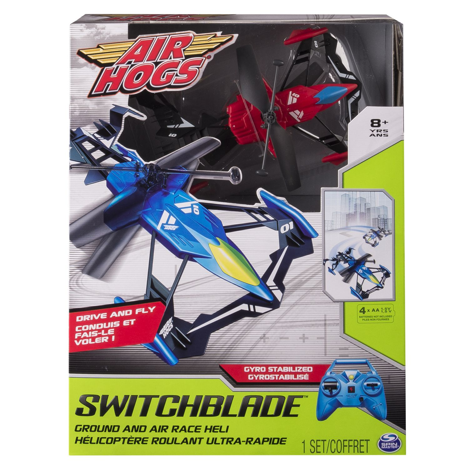 Air Hogs Switchblade Ground And Race Red RC Helicopter