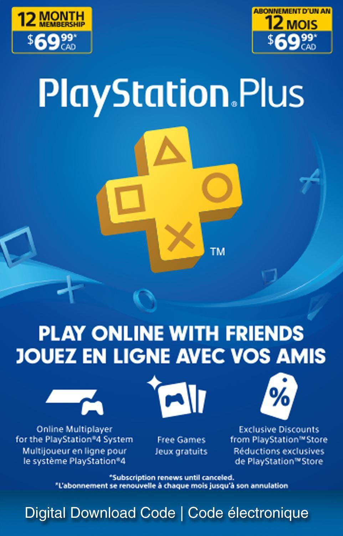 Playstation Plus 12 Month Membership Electronic Code Download Black Friday 2020 Walmart Canada