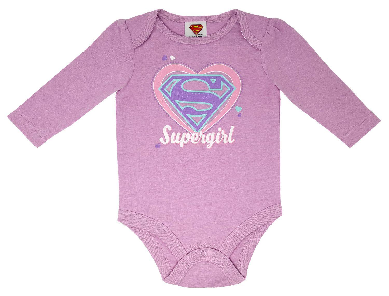 403befa303 DC Comics Supergirl Baby Boy s Long Sleeve Bodysuit