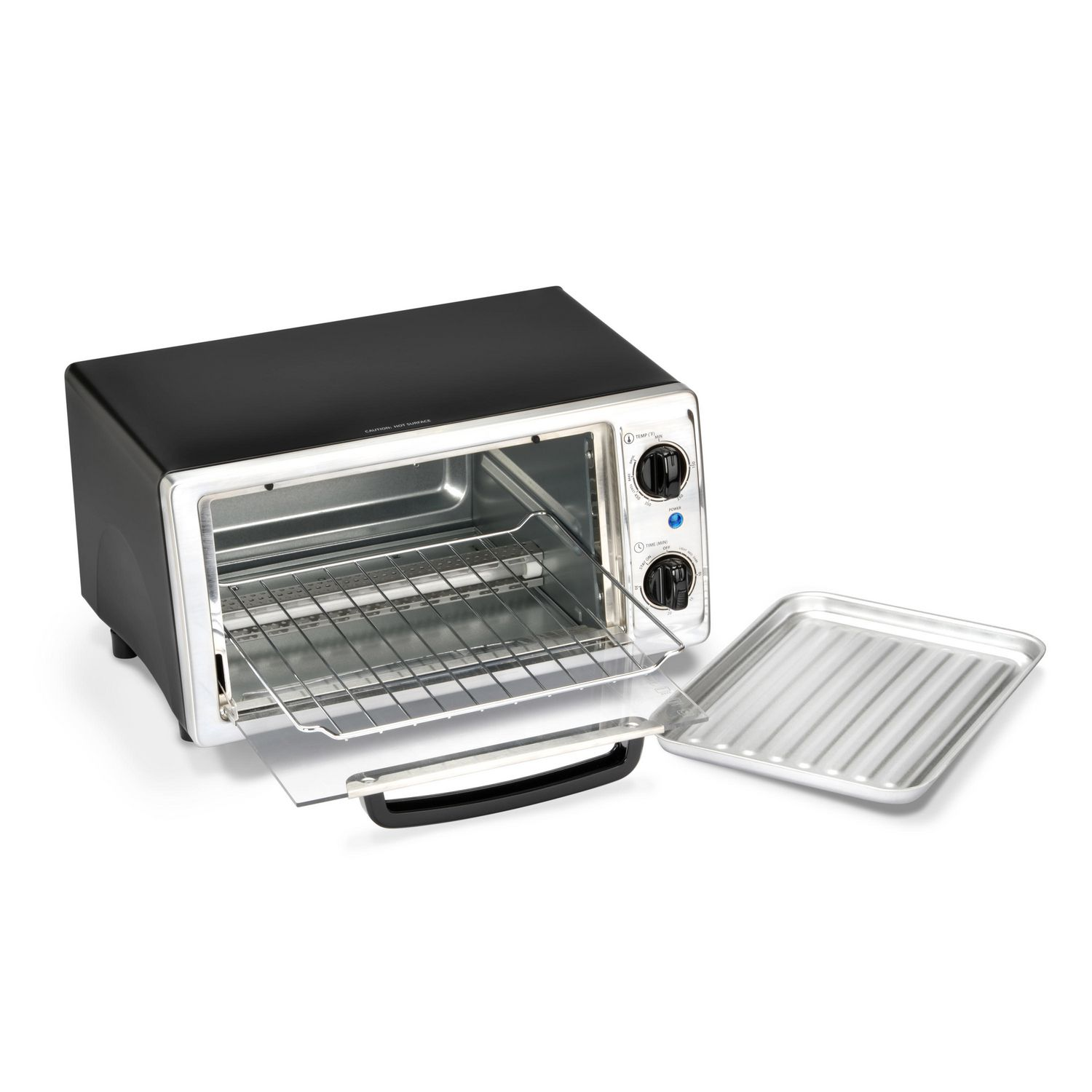 slice decker oven digital toaster small steel black convection stainless itm