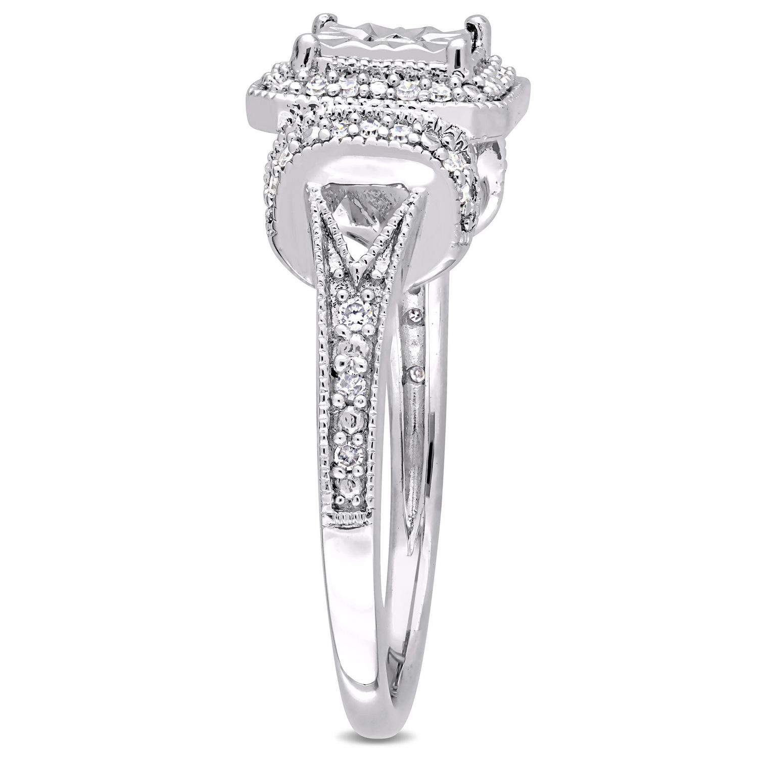 double heart ip engagement silver sterling diamond en ring tone rings accent two walmart miabella canada