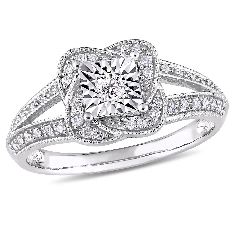 Miabella 1/5 Carat T.W. Diamond Sterling Silver Vintage ...