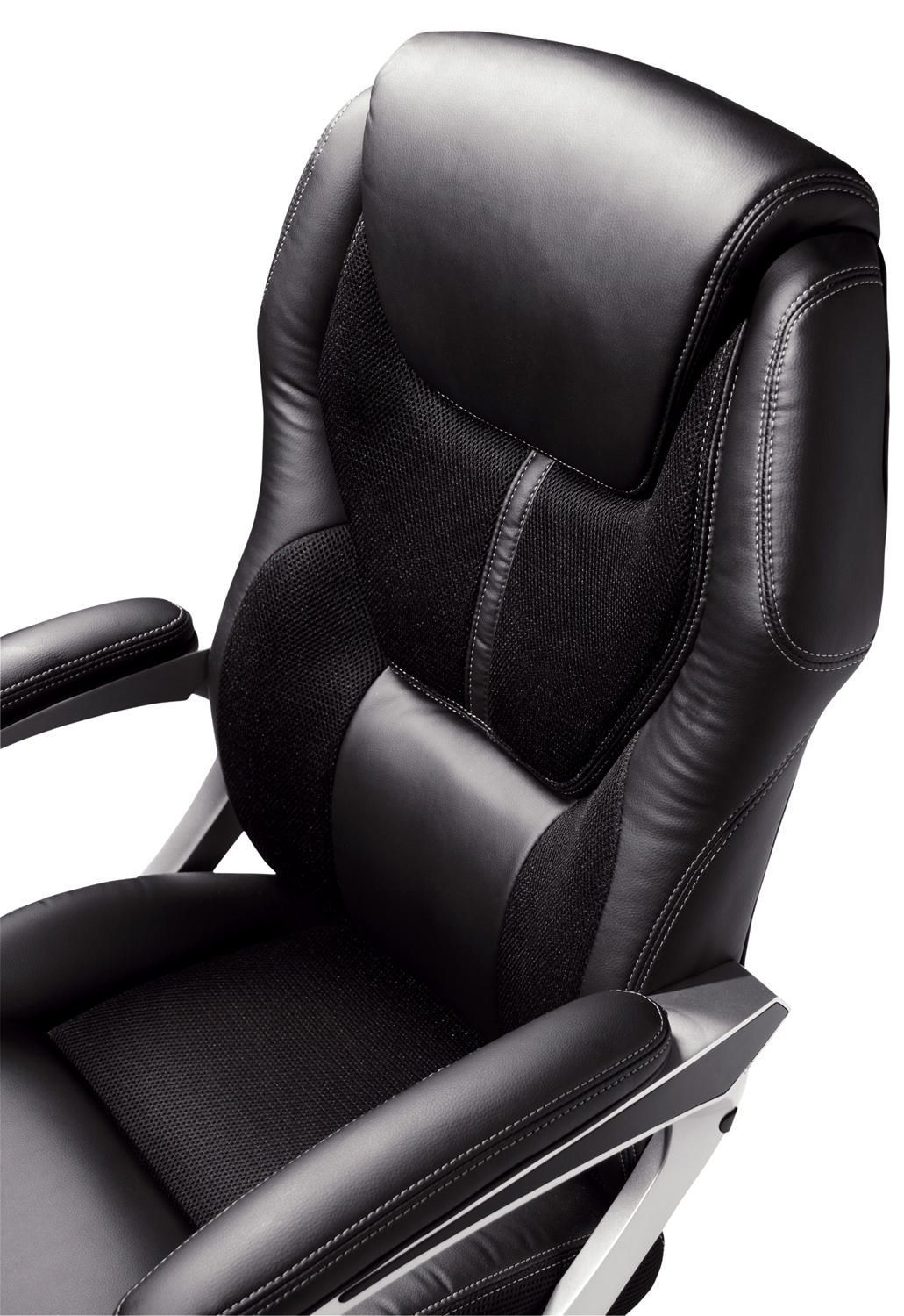smooth leather bonded rfxerl friendly back and amazon wellness black dp home air eco kitchen health ca at office chair serta mid