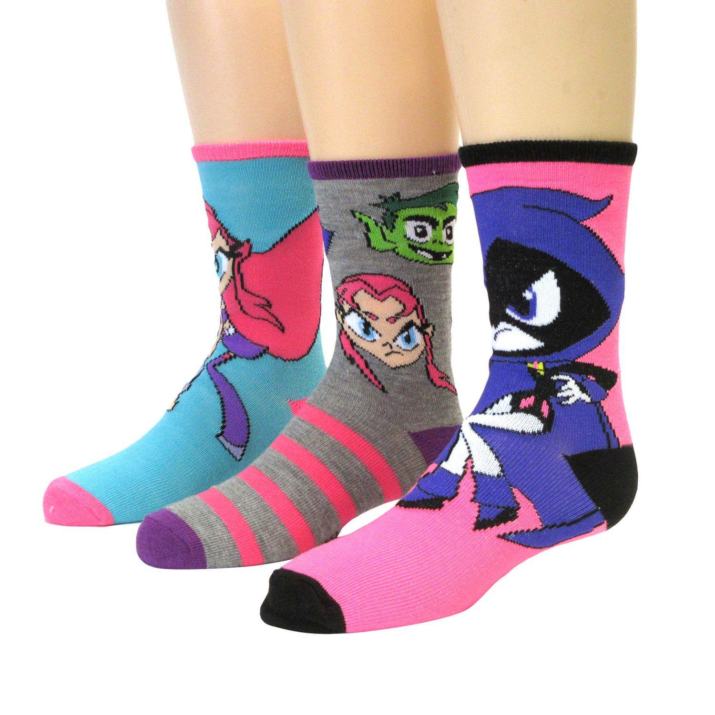 Teen Titans Girls 3-Pack Crew Socks | Walmart Canada