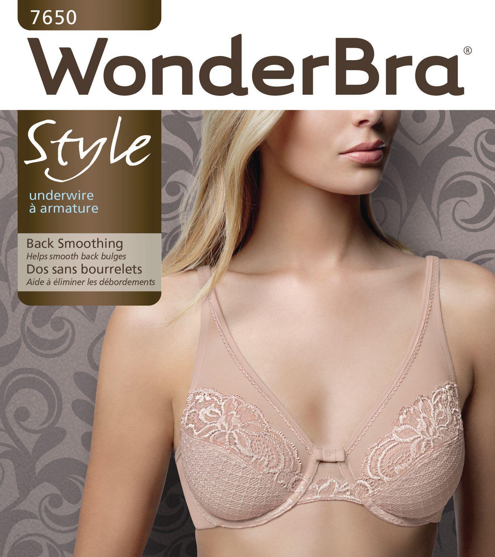 92f2e2b7ccdc9 WonderBra Women's Underwire Back Smoothing Lace Bra | Walmart Canada