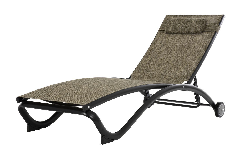 Glendale 11 position Aluminum Pool Lounger w/wheel & Pillow