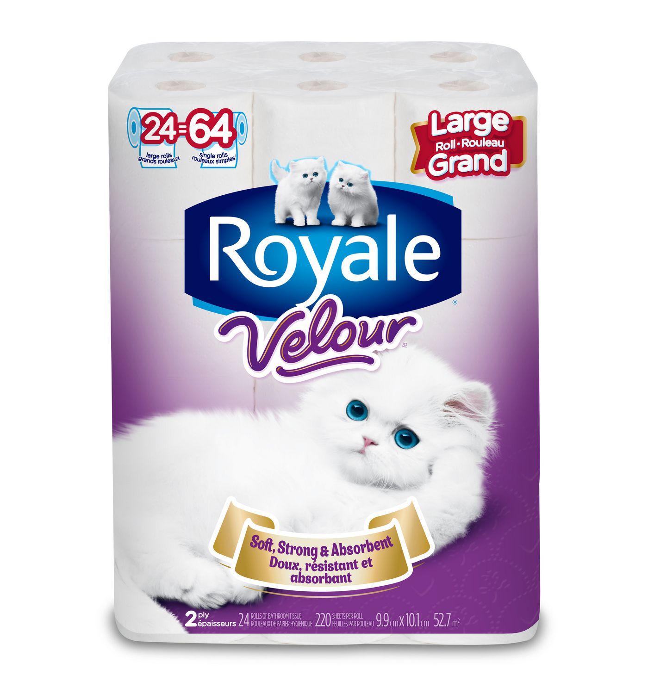 Royale Velour 2 Ply Large Bathroom Tissue Roll Walmart