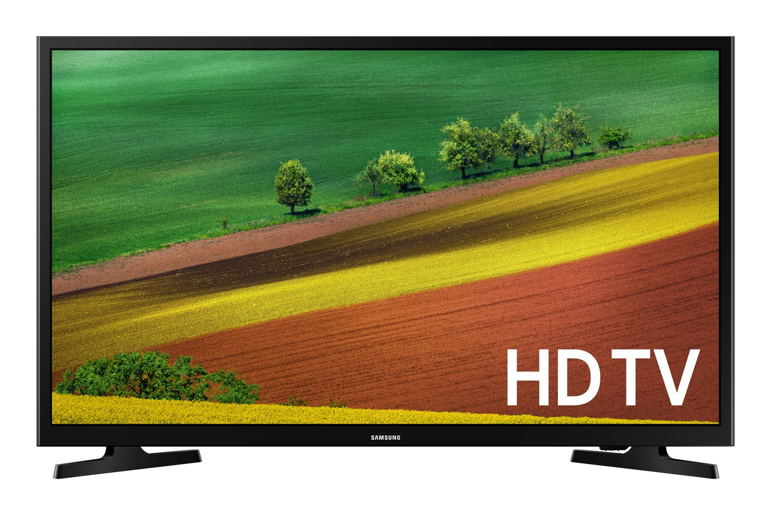 Best TVs - 30 to 39 inches - Samsung 32 inch smart TV with farm field on display screen
