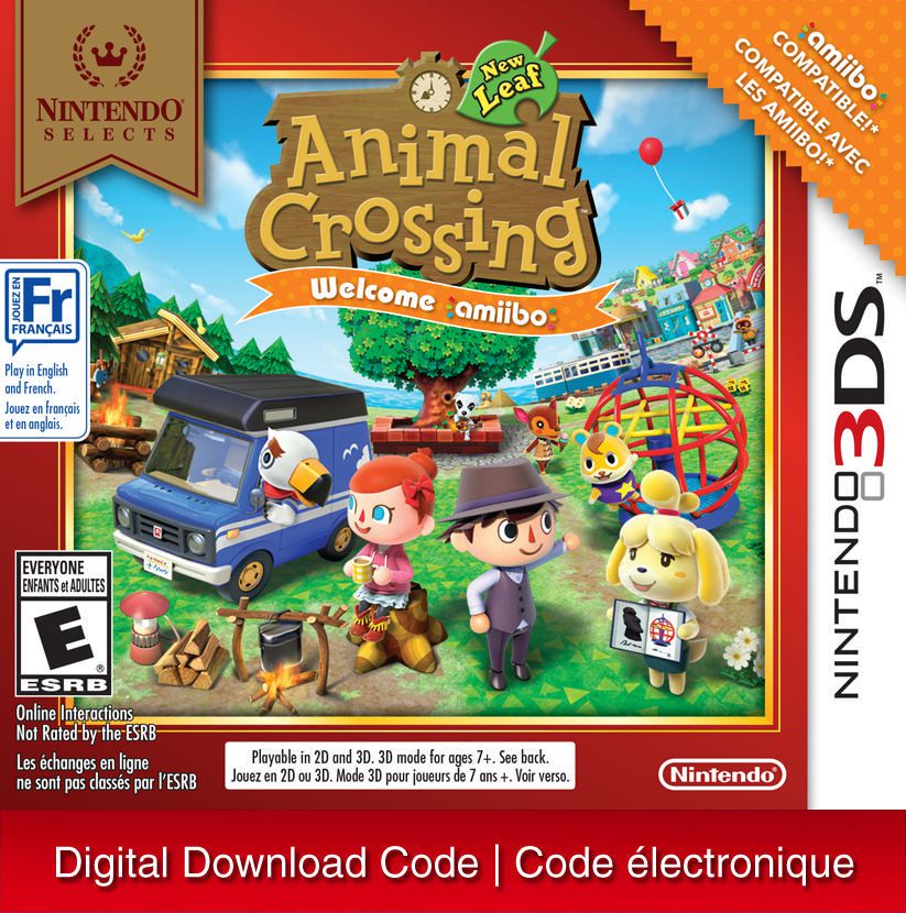 3ds Nintendo Selects Animal Crossing New Leaf Welcome Amiibo Digital Download Walmart Canada