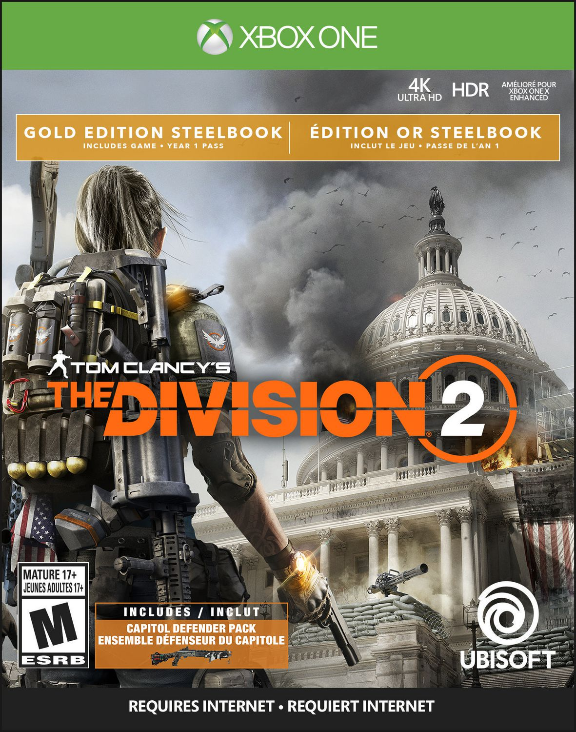 Tom Clancy S The Division 2 Gold Steelbook Edition Xbox One