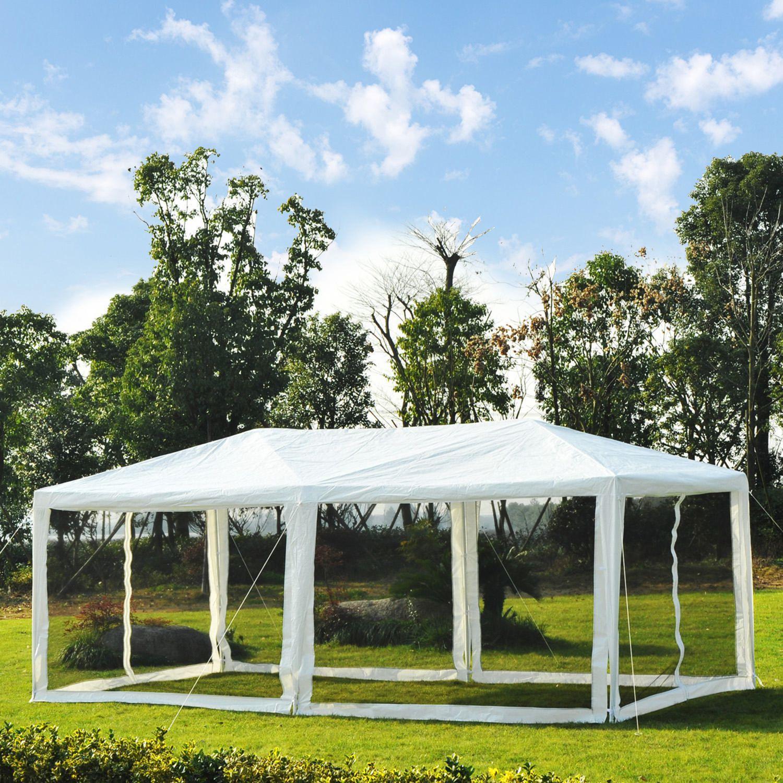 Tente extérieure Outsunny 10\'x20 \'avec moustiquaire