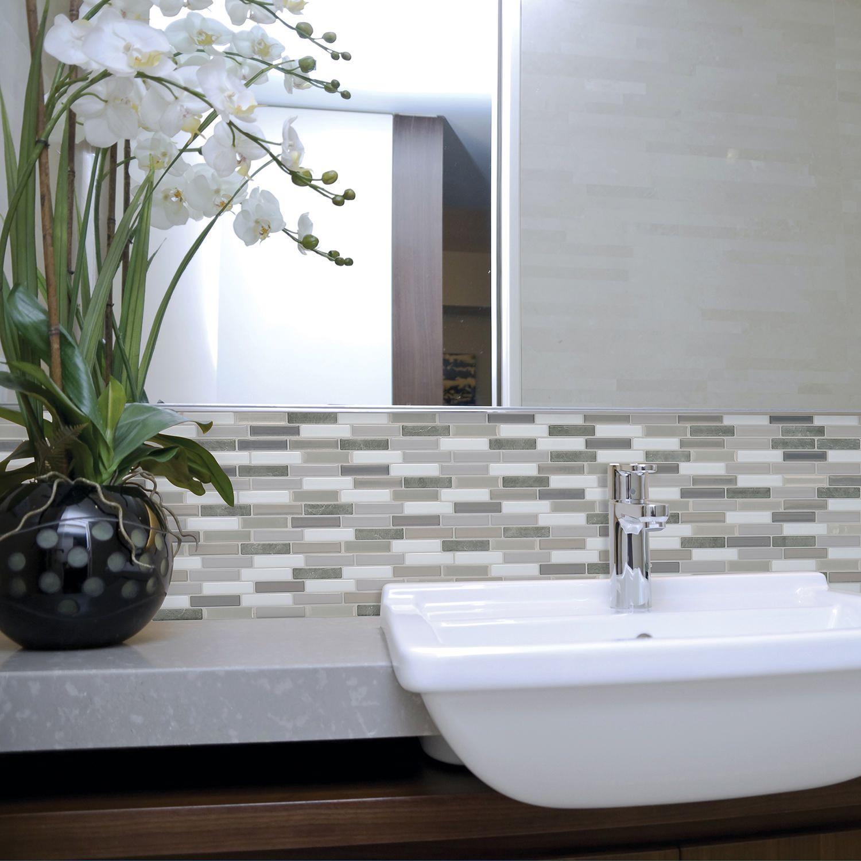Milenza Bigio 10 20 In W X 9 In H Peel And Stick Mosaic Self Adhesive Wall Tile Backsplash Walmart Canada
