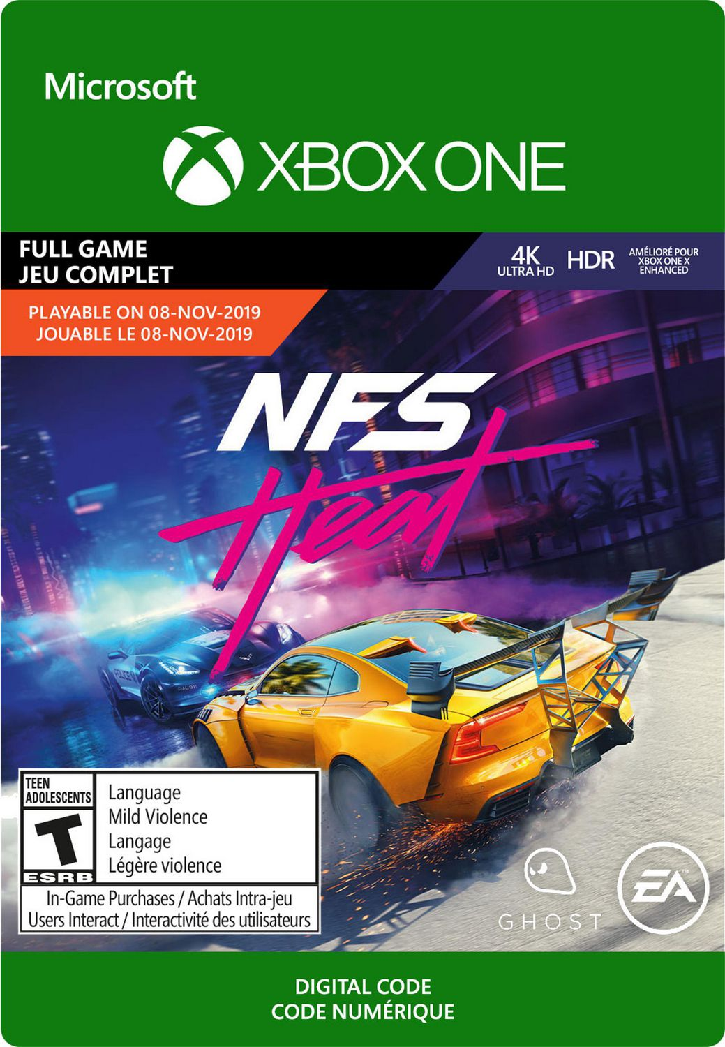 Xbox One Need For Speed Heat Standard Edition Download Pre